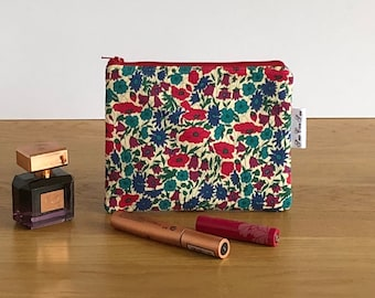 Liberty of London small floral makeup bag - beauty bag - cosmetics bag - zipped pouch - gift for her - bridesmaids gift