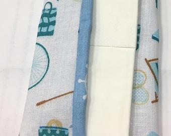 Cotton pocket tissue bag