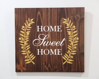 Home Sweet Home Hand Painted Sign