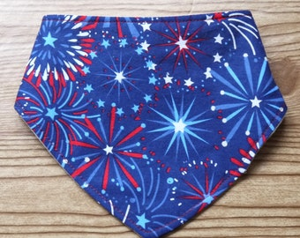 Baby Bib Fourth of July Drool Bib Teething Bib Baby Bandana Bib Dribble Bib Baby Gift Baby Bandana Baby Shower Gift Bib Bandana New Mom Gift