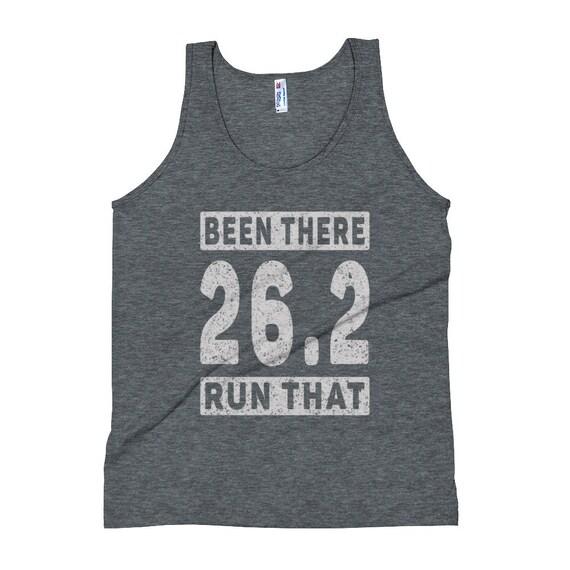 Unisex Been There Run That 26.2 Tank Top - Running Tank Tops - Marathon Runner - Run 26.2 - Triblend Singlet