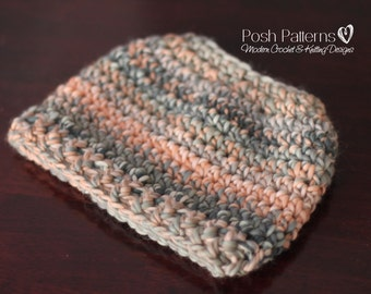 CROCHET PATTERN - Messy Bun Hat Crochet Pattern, Ponytail Hat Crochet Hat Pattern ( Toddler, Child, Adult Sizes) - Instant PDF Download 438