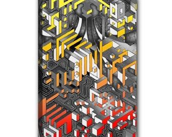 "Wrapped canvas 12""x18"" - Interdimensional (Fire)"