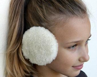 Earmuffs, Fur Earmuffs, Warm Earmuffs, White Fur Earmuffs, Ear Warmer, Gift for Her, Fur Ear Warmers, Winter Earmuffs, Earmuff, Soft Earmuff