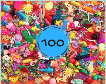 Mix of 100 I spy trinkets objects miniatures. best selling
