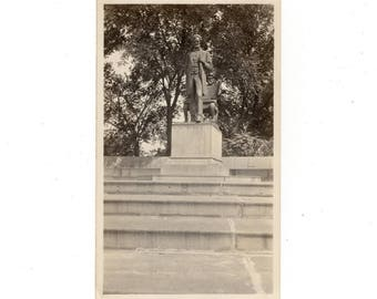 Antique photo statue of Abraham Lincoln