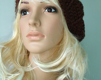 Crocheted slouchy hat - ready to ship