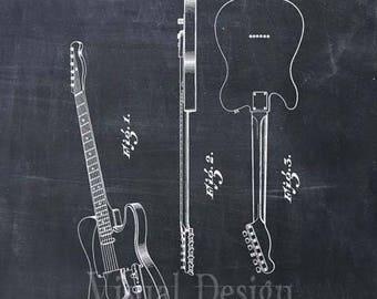 Fender Guitar Patent Print Art Print Patent Poster