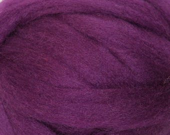 Red Plum Romney Wool Roving for Needle Felting One Ounce