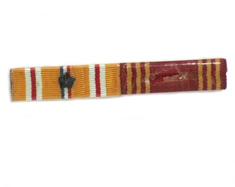 WWll Campaign Ribbon Bar US Army Asiatic Pacific and Good Conduct