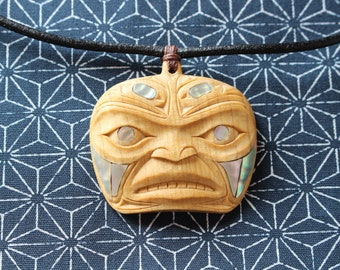 Raven shaman amulet - necklace - pendant - first nations