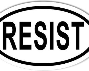 RESIST Custom Oval Bumper Stickers (Pack of 25)