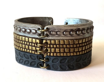Mixed Metals Stackable Bracelets, Urban Boho Wear, 2017 Fashion Trends, Modern Accesories, 30, 40, 50, 60 years old Birthday Gift Women