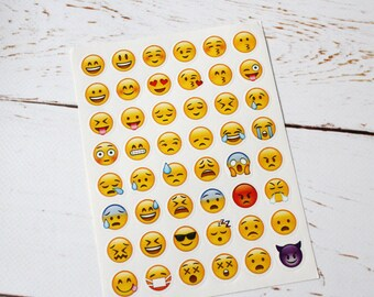 Emoji Planner stickers sheet/ Emoji Stickers Diary Stationary
