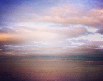 Heavenly - 12 x 12 Beach Landscape Oceanscape Dreamy Surreal Decor Artwork Fine Art