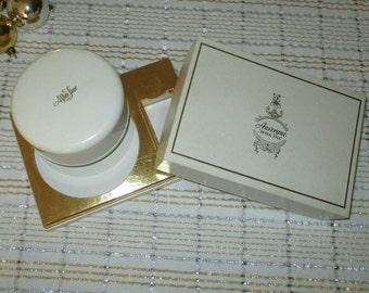 Vintage Auvergne After Five bath Powder original box Puff 4 oz Sealed perfumed powder dusting powder vintag perfume powder bath powder