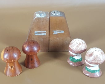 CLEARANCE lot of 3 sets mid century salt and pepper shakers