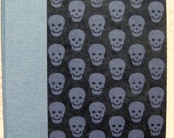 Medium Unlined Handbound Hardcover Journal Skulls