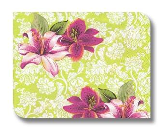 Paper serviette for decoupage x 1.Bright tropical. No 1126