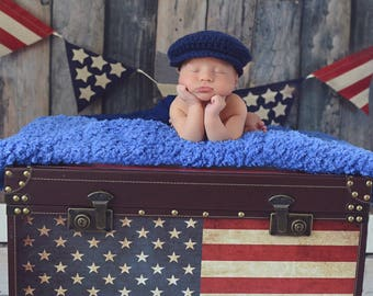 Baby Boy Hat Irish Donegal Cap Baby Cap Donegal Hat Navy Blue Baby Hat Photography Prop Baby Photo Prop Baby Cap Newsboy Cap