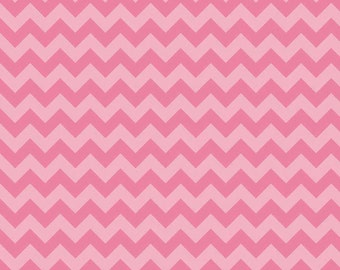 Small Hot Pink Chevron 100% Cotton Riley Blake Fabric by the YARD, 3/4, Half and 1/4 Yard Sewing/ Quilting/ Crafting/ Applique Sewing