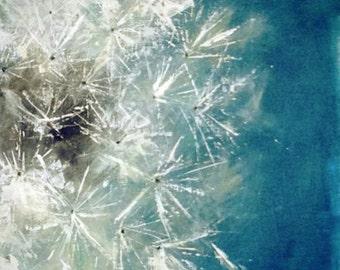 Original Acrylic Fine Art Painting Dandelion