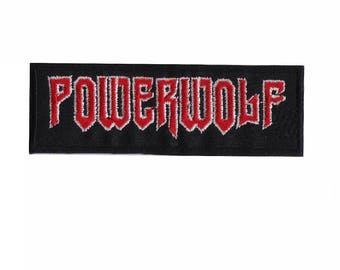 POWERWOLF Heavy Metal Iron On Embroidered Patch 4.4'