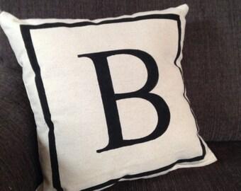 Letter - monogram pillow