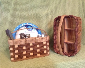 Patio Basket for plates, silverware and napkins
