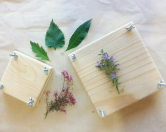 Wood flower press / Flower press decorate by yourself / Botanical press / Flower Press Kit / Leaf Press