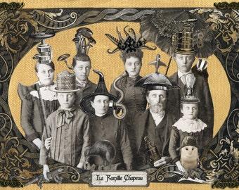 Steampunk Family Portrait - La Famille Chapeau