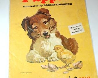 Puppies, Duroplast Children's Book, Wipe Clean, Illustrated by Robert Lougheed (501-12)