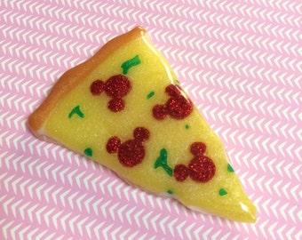 Mickey Pizza Slice Brooch