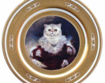 """Königin Nadira Persien Portrait Platte 10,25"""""""