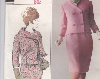 ON SALE 1960's Sewing Pattern - Simplicity 6312 Misses Suit - Jacket Skirt Size 14 Bust 34 inch Factory Folded,  Complete