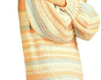 Sweater Crochet Pattern, Crochet Sweater Pattern for Men & Women, Summer Crochet, Plus Size Sweater, INSTANT Download Pattern PDF (1112)