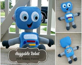 Huggable Robot Pattern - PDF Instant Download
