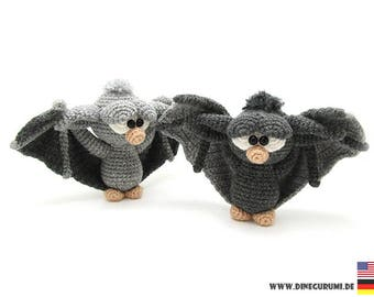 Little bat crochet pattern amigurumi