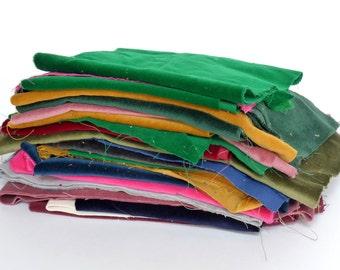 velvet fabric remnants // velvet fabric scraps // fabric remnants // velvet off cuts // craft scraps