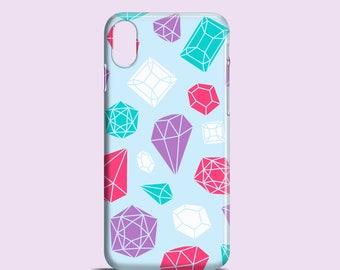 Gemstones phone case / iPhone X / Bright iPhone 8 / iPhone 7 / iPhone 7 Plus / iPhone 6/6S / iPhone 5/5S, Se / Samsung Galaxy S7, S6