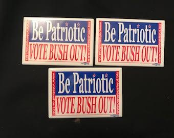 2004 Vote Bush Out Political Pins