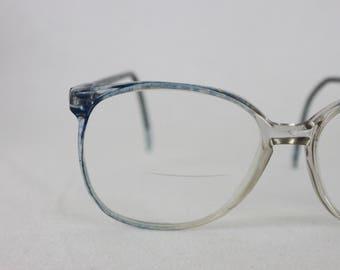 Vintage eyeglasses | 1970s oversized women's eyeglasses | Charmant eyeglasses | light blue womens eyeglasses