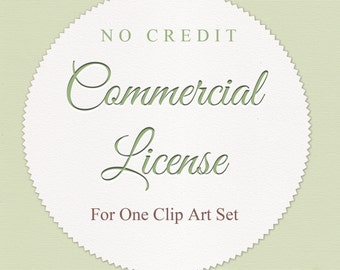 No Credit.Commercial License for One Clip Art Set.