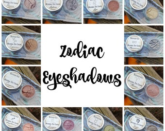Astrology Eye Color// CHOOSE YOUR SIGN//  Mineral Eyeshadow Vegan Organic Makeup // Zodiac Based Mineral Eye