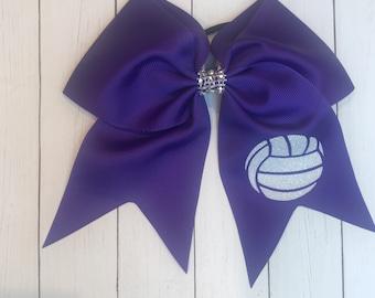 Volleyball Bow / Volleyball Bows / Custom Volleyball Bows / Volleyball Bow / Hair Bows