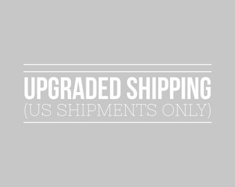 Upgraded Shipping (priority mail, US address only)