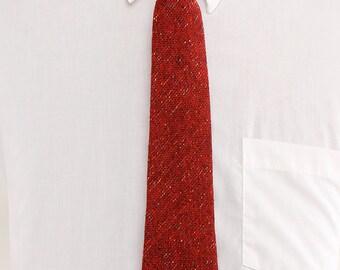 1960s Red Wool Knit Necktie by Garrison
