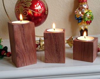 Wooden Tealight Candlesticks