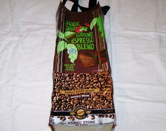 Reserved for Go green Eco Friendly Wine or liqueor Gift Bag made with Recycled Coffee Bags One of a Kind