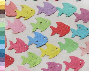 Seed Paper Fish Confetti - Flower Seed Beach Wedding Favors - Plantable Paper Tropical Fish